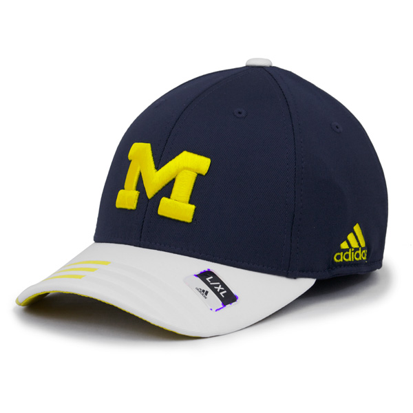9522f75d7cc Adidas Michigan Wolverines Men s Navy Climalite Pro Shape Structured Cap
