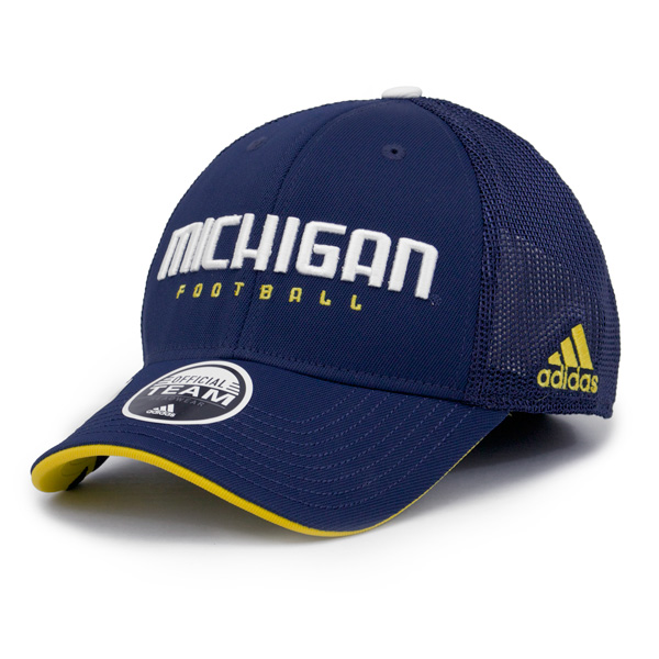 76f443274cc Adidas Michigan Wolverines Men s Navy Mesh Black Flex Cap