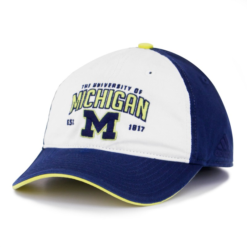 2ff40a14c4e Adidas Michigan Wolverines Navy University Slouch Adjustable Cap