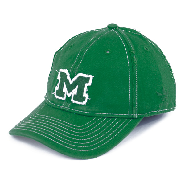 2dcbe44c8d1 Adidas Michigan Wolverines Men s Green Distressed Slouch Stretch Cap