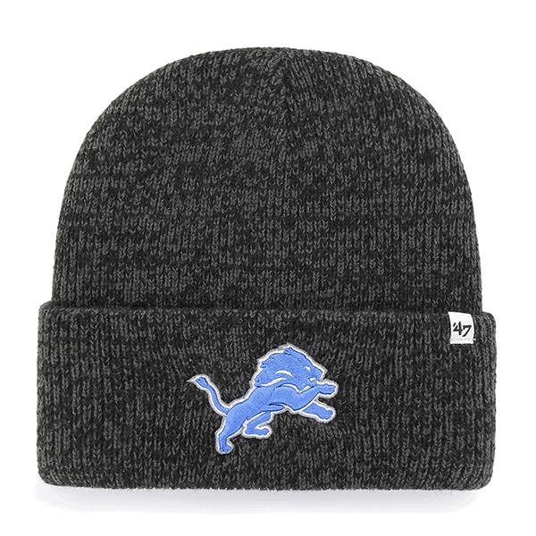4473fec3b73 47 Brand Detroit Lions Black Brain Freeze Cuff Knit Beanie