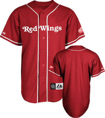 more photos 6eb04 8296d Majestic Detroit Red Wings Replica Baseball Jersey