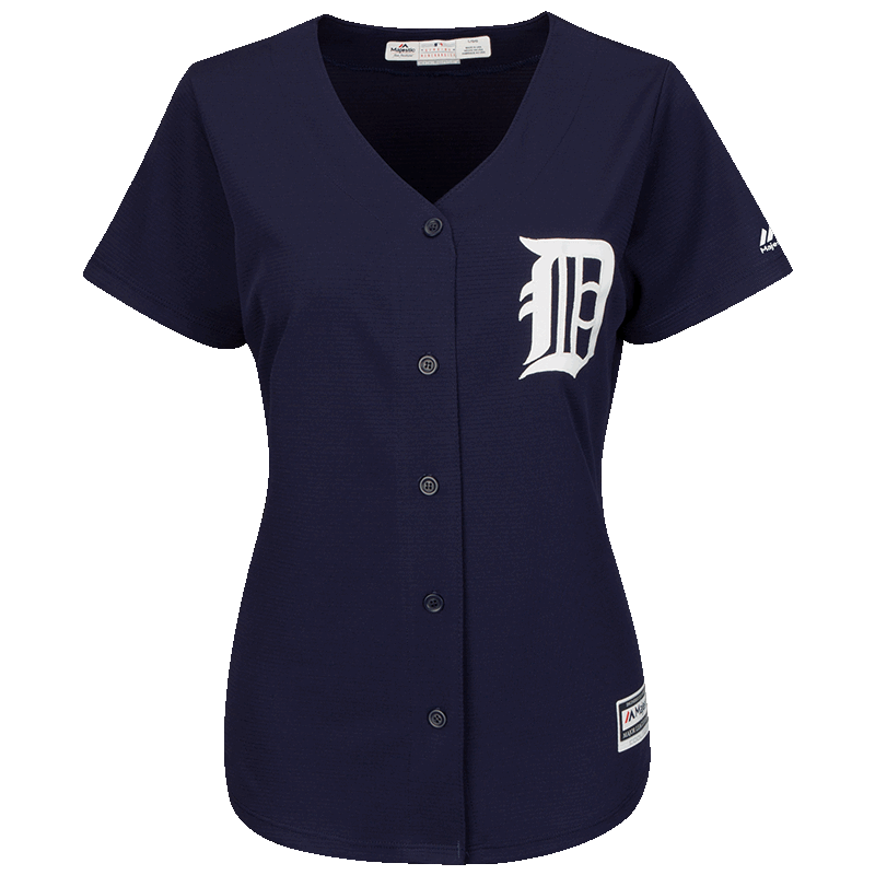 47ff9430856 Majestic Detroit Tigers Women s Alternate Home Navy Cool Base Jersey