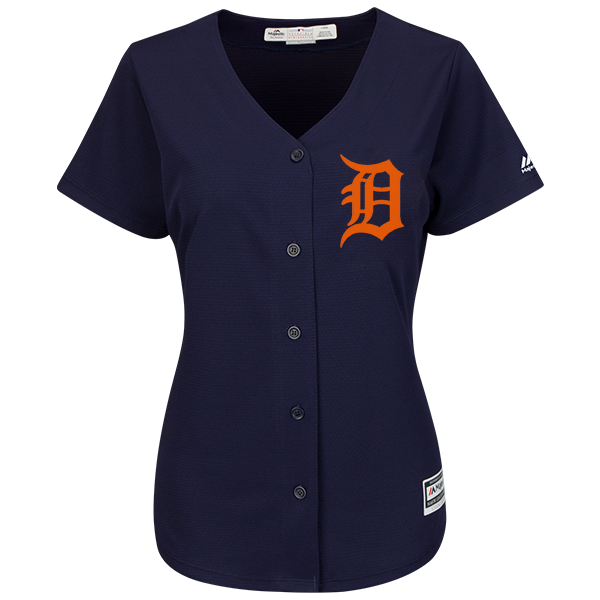 f466c07bb63 Majestic Detroit Tigers Women s Alternate Road Navy Cool Base Jersey