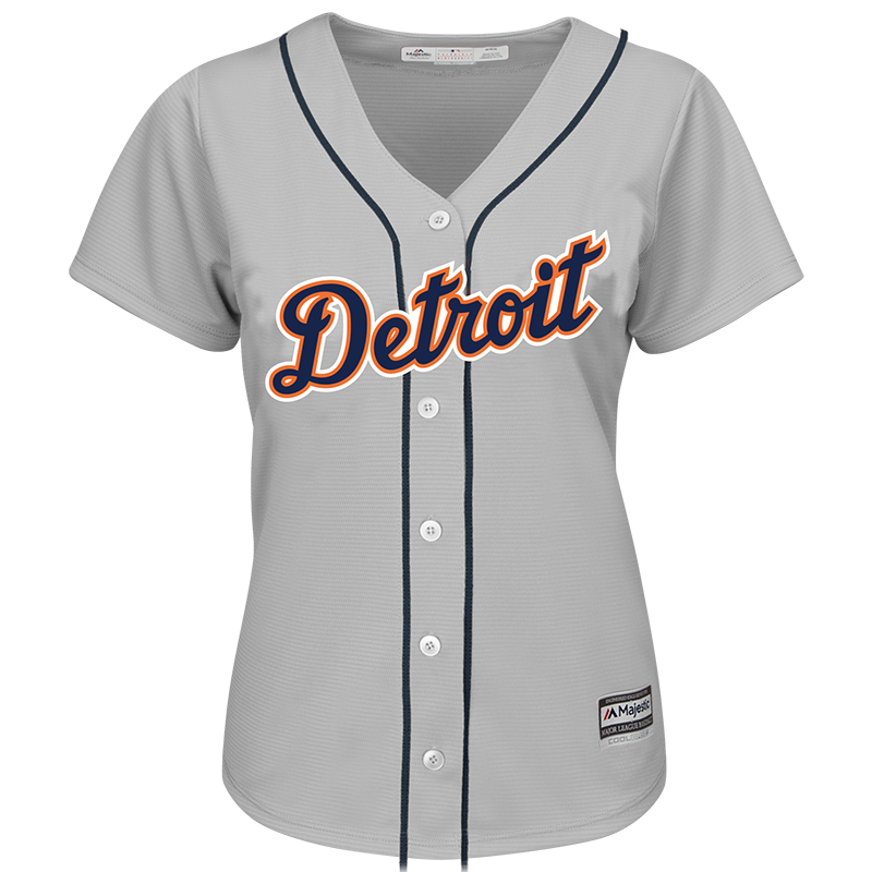 check out aaf4f d5d13 Majestic Detroit Tigers Women's Grey Cool Base Jersey