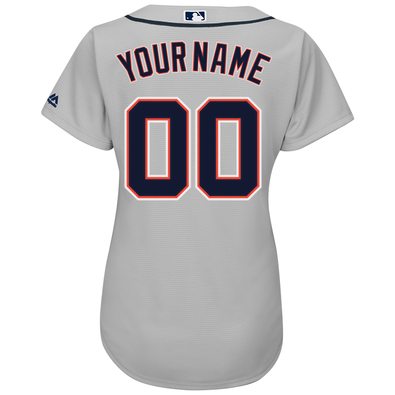 8a3cfa22b8f Majestic Detroit Tigers Women s Grey Personalized Cool Base Jersey