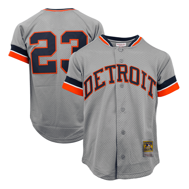 new style 48fcc a0ca5 Mitchell & Ness Detroit Tigers 1987 Kirk Gibson Authentic ...
