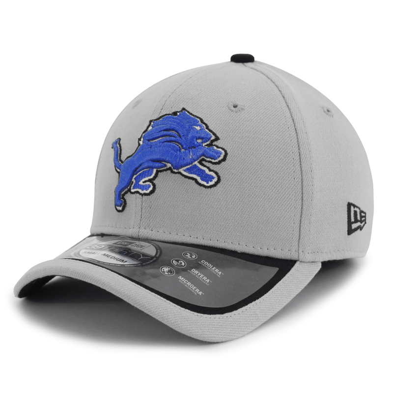 quite nice 4748c 98828 New Era Detroit Lions 39Thirty NFL 2015 Sideline Stretch Fit Cap