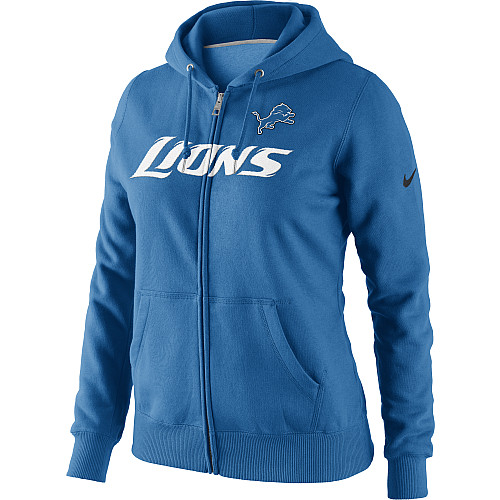 huge selection of 00100 5fadf Nike Women's Detroit Lions Blue Tailgater Fleece Full-Zip Hoodie