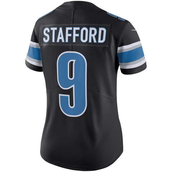 quality design b7e9a 300c2 Nike Detroit Lions Women's Black Matthew Stafford Color Rush ...