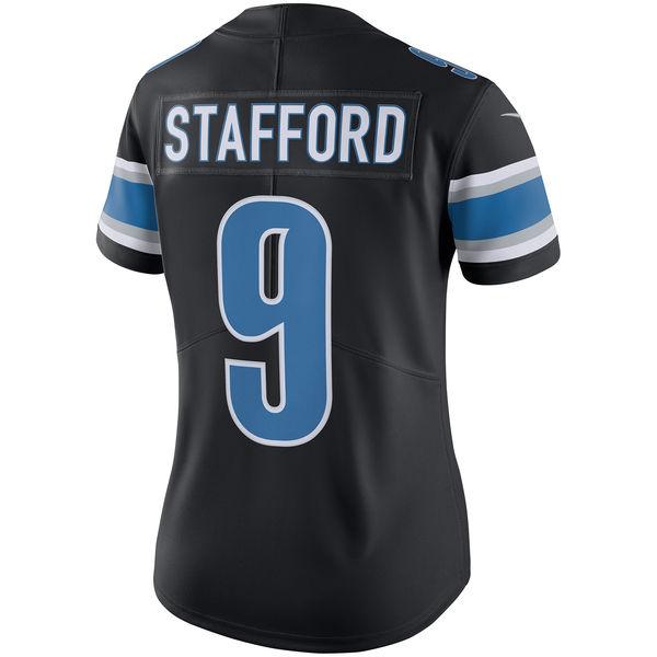 1580601d Nike Detroit Lions Women's Black Matthew Stafford Color Rush Limited ...