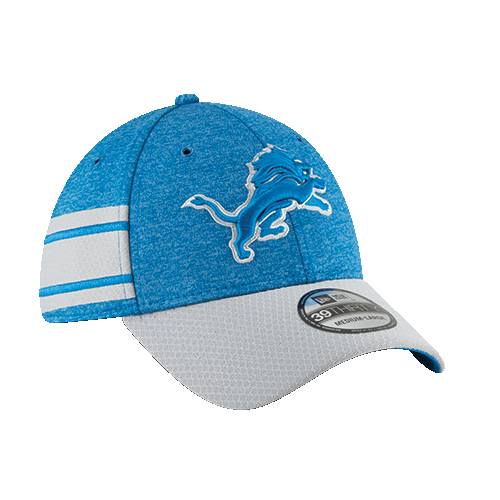 wholesale dealer c8ae8 4f4f4 New Era Detroit Lions Home Blue 39Thirty 2018 Sideline Cap