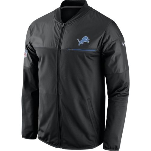 online store f5ff0 8f013 Nike Detroit Lions Black Elite Hybrid Jacket
