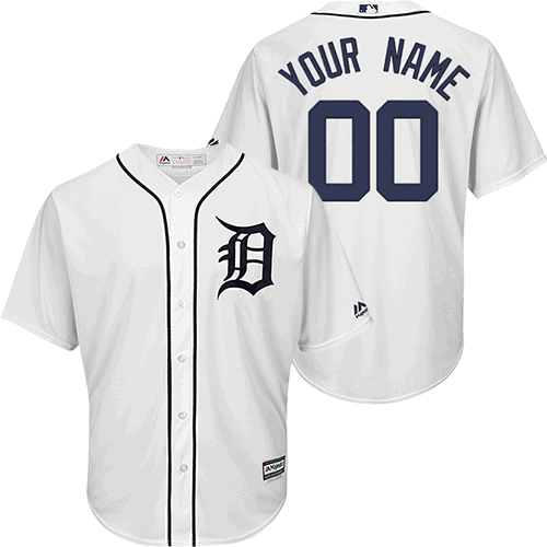 bd9b403df Majestic Detroit Tigers Home White Personalized 2018 Cool Base Jersey