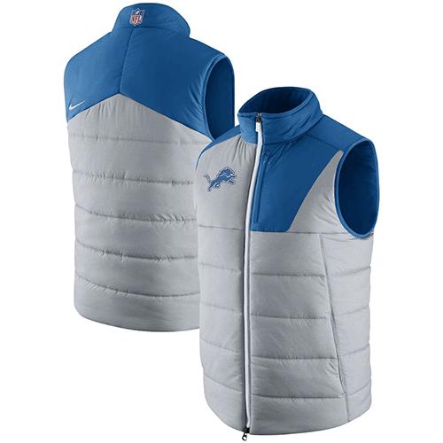 58e3126d Nike Detroit Lions Gray Champ Drive Vest