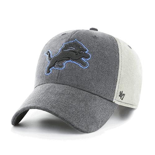 0c01b776 47 Brand Detroit Lions Dark Gray Dark Field MVP Cap
