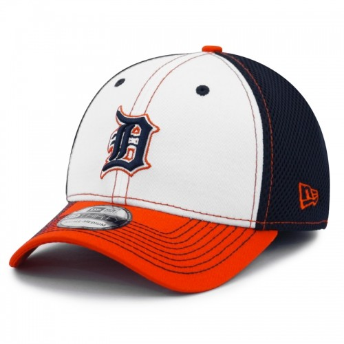 New Era Detroit Tigers 39Thirty White Front Neo Stretch Fit Cap dbebd7f3bcb9