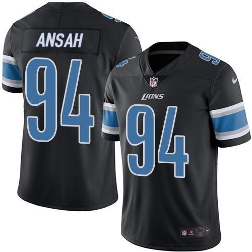 online store f38da 3fb2c Nike Detroit Lions Black Ezekiel Ansah Color Rush Limited Jersey