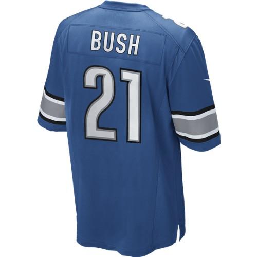 Nike Men's Detroit Lions Blue Reggie Bush Game JerseyPurchase
