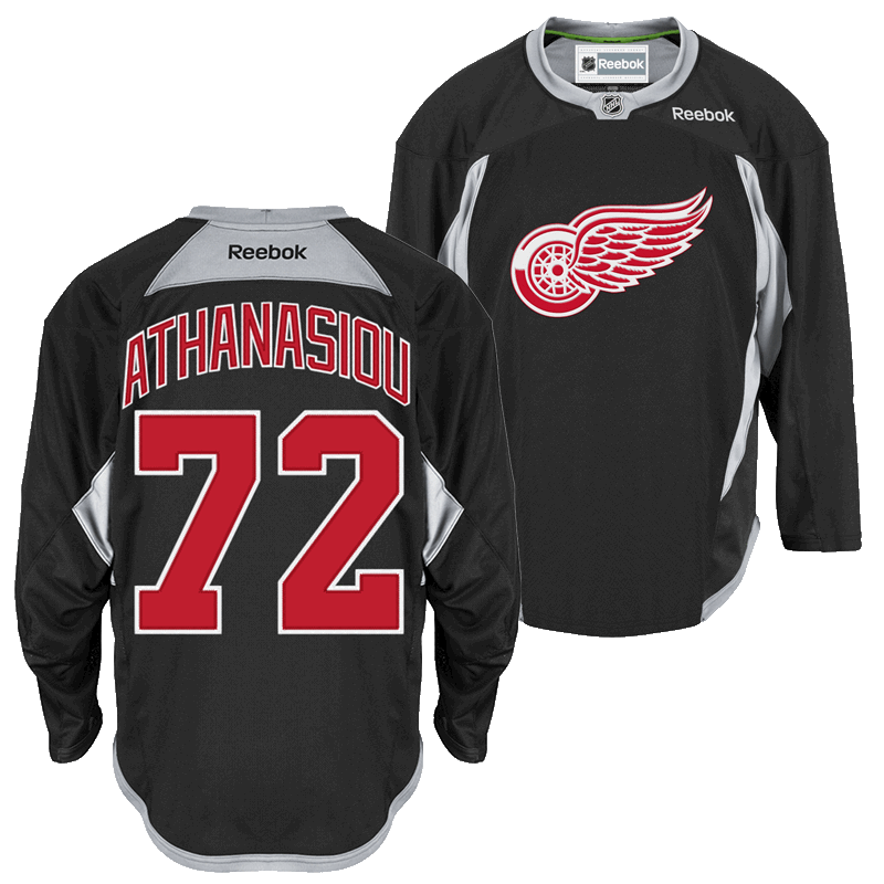 info for 1c74c 5b725 Reebok Detroit Red Wings Black Andreas Athanasiou Center Ice ...