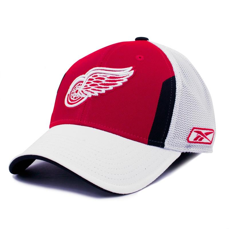5373aadd Reebok Men's Detroit Red Wings OSFA Draft Day Pro Shape Flex-fit Cap