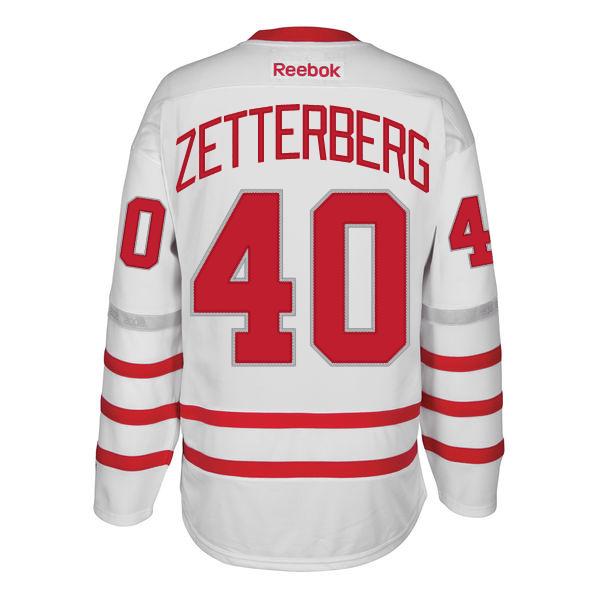 7c096803fbc Reebok Detroit Red Wings White Henrik Zetterberg 2017 Centennial Classic  Premier Jersey