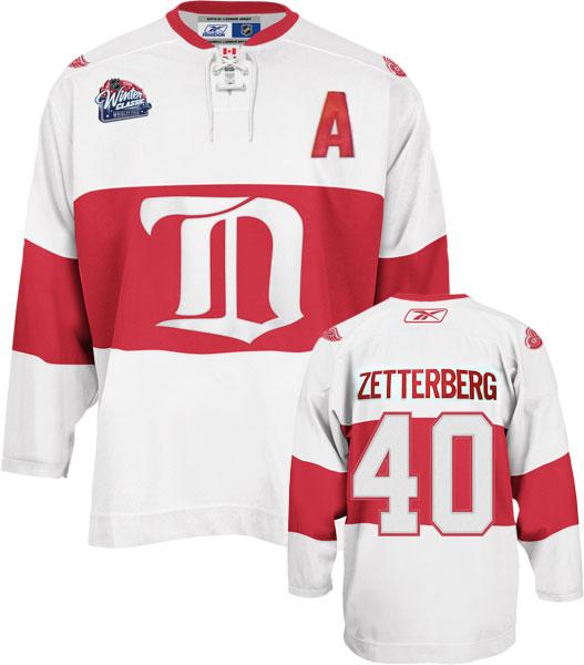 d02c34033 Reebok Men's Detroit Red Wings Henrik Zetterberg 2009 NHL Winter Classic  Premier Jersey