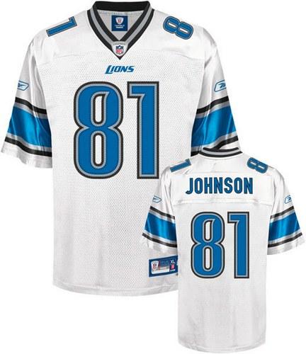 Reebok Detroit Lions White Calvin Johnson Replica Jersey e9bb6fbaa