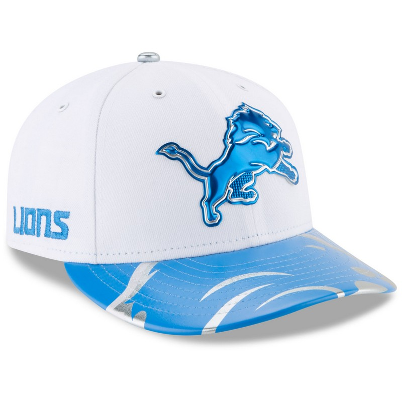 official photos c2511 2b39a More images. New Era Detroit Lions White 59Fifty Low Profile 2017 Draft Day  Spotlight Fitted Cap