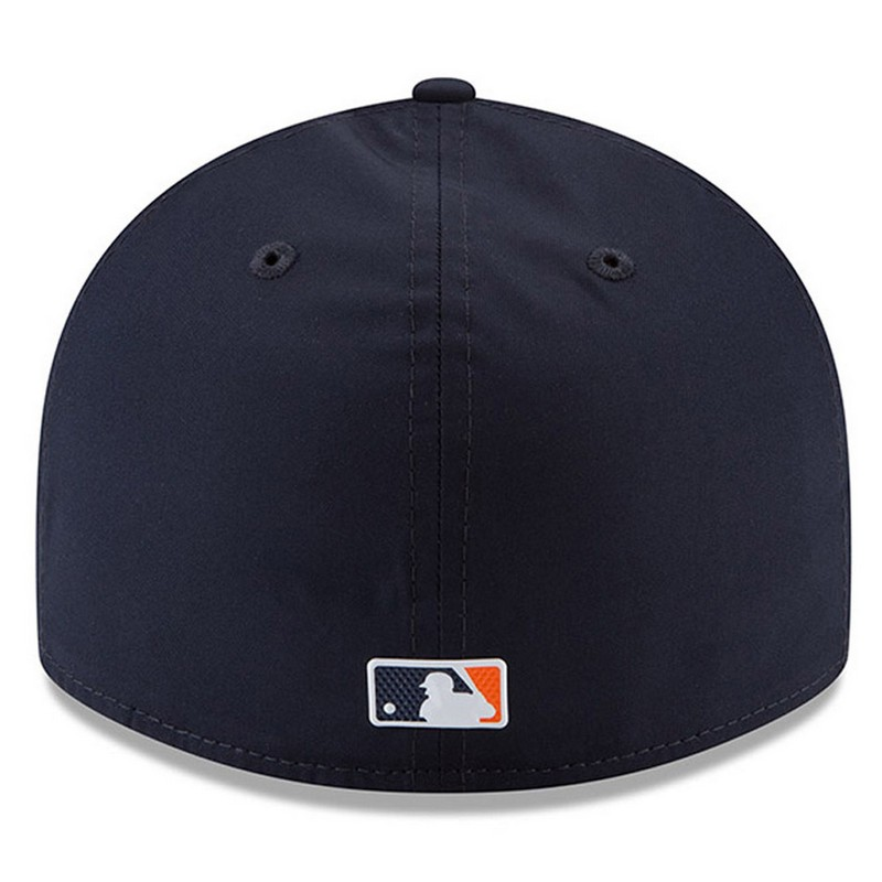 new concept fdb4d 0a469 New Era Detroit Tigers Navy 59Fifty 2018 Low Crown On-Field Prolight Batting  Practice Fitted Cap