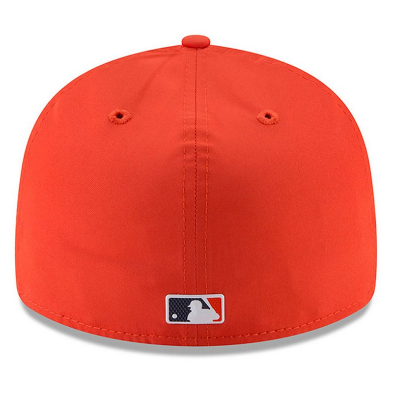 sale retailer 47bed 51d00 New Era Detroit Tigers Orange 59Fifty 2018 Low Crown On-Field Prolight Batting  Practice Fitted Cap