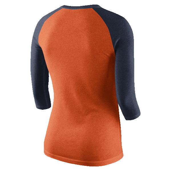 7187d3f1e More images. Nike Detroit Tigers Women s Orange Cooperstown Tri 3 4 Sleeve Raglan  Tee