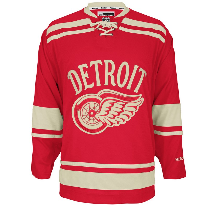 Reebok Men s Detroit Red Wings 2014 NHL Winter Classic Premier Custom Jersey 7ad1a7ab0