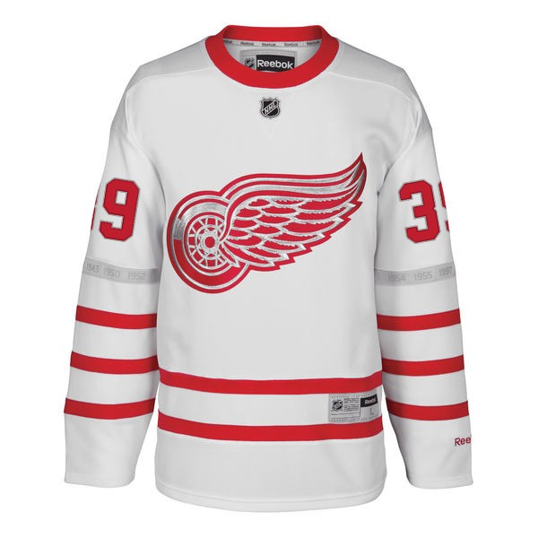 Reebok Detroit Red Wings White Anthony Mantha 2017 Centennial Classic Premier  Jersey 29f879f75