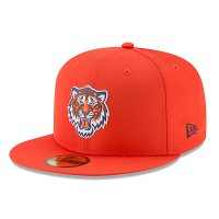 new style 5e8d5 43350 New Era Detroit Tigers Orange 59Fifty On-Field Prolight Batting Practice  Fitted Cap