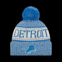 9f818e1d8c8a2e New Era Detroit Lions Blue 2018 Official Onfield Cold Weather Sport Knit Cap