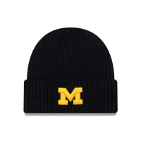 New Era Michigan Wolverines Navy Core Classic Knit Hat
