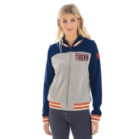 New Era Detroit Tigers Women's Heather Gray French Terry Zip Up Hoodie
