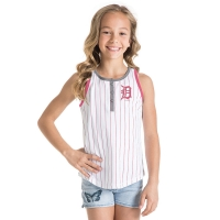 New Era Detroit Tigers White Pinstripe Racerback Tank