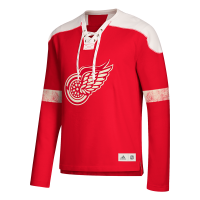 Adidas Detroit Red Wings Red Long Sleeve Jersey Crew