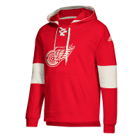 Adidas Detroit Red Wings Red Pullover Jersey Hood