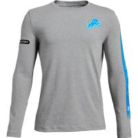 Under Armour Detroit Lions Youth Steel Heather Combine City Name Long Sleeve Charged Cotton Tee
