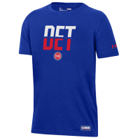 Under Armour Detroit Pistons Royal Combine Authentic Abbreviation Performance Tee