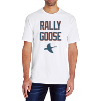 Motor City Bad Boys White Rally Goose Tee