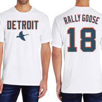 Motor City Bad Boys White Rally Goose Name & Number Tee