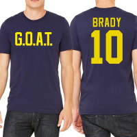 Motor City Bad Boys Navy G.O.A.T. Name & Number Tee