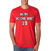 Motor City Bad Boys Red Hey Hey Welcome Home Tee