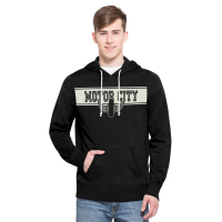 Motor City Bad Boys Jet Black Playmaker Hood - by 47 Brand