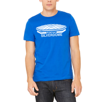 Motor City Bad Boys Royal Blue Pontiac Silverdome Logo Tee