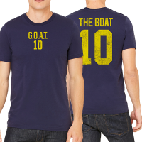 Motor City Bad Boys Navy The Goat Name & Number Tee